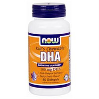 NOW Foods - Kid's Chewable DHA 100 mg. - 60 Softgels