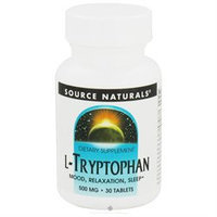 Source Naturals L-Tryptophan - 500 mg - 30 Tablets
