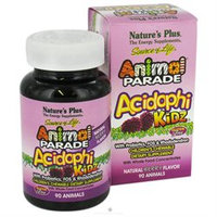 Nature's Plus Animal Parade AcidophiKidz Children's Chewables, Berry, 90 animals