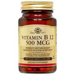 Solgar - Vitamin B12 500 mcg. - 50 Vegetarian Capsules