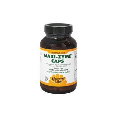 Country Life Maxi-Zyme Caps - 120 Vegetarian Capsules