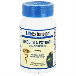 Life Extension Rhodiola Extract 3% Rosavins - 250 mg - 60 Vegetarian Capsules