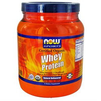 NOW Foods - Whey Protein Certified Organic Natural Unflavored - 1 lb.