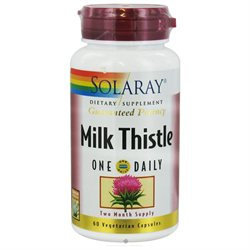 Solaray - Guaranteed Potency Milk Thistle One Daily - 60 Vegetarian Capsules