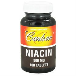 Carlson Laboratories Niacin 500 MG - 100 Tablets - Niacin