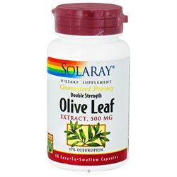 Solaray Olive Leaf Two Daily - 500 mg - 30 Capsules
