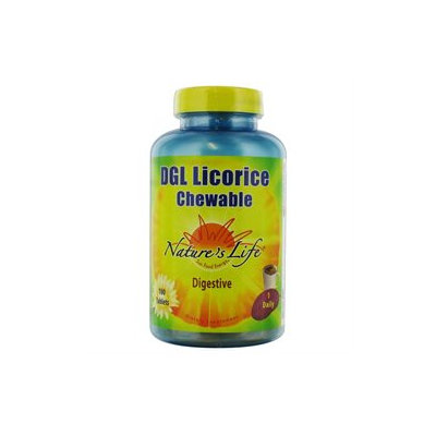 Nature's Life DGL Licorice Chewable - 100 Tablets