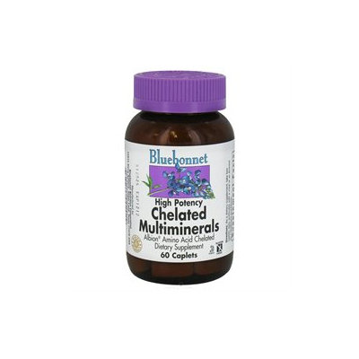 Bluebonnet Nutrition - Chelated Multiminerals High Potency - 60 Caplets