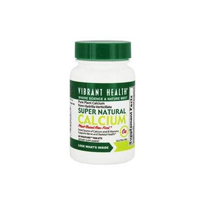 Vibrant Health Super Natural Calcium - 60 Tablets - Bone Health