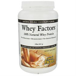 Natural Factors Whey Factors Double Chocolate - 2 lbs