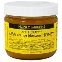 Honey Gardens Apiaries - Apitherapy Raw Honey Orange Blossom - 1 lb.