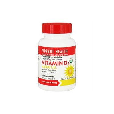 Vibrant Health - Vitamin D3 4000 IU - 100 Tablets