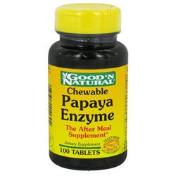 Good 'N Natural - Chewable Papaya Enzyme - 100 Chewable Tablets
