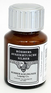 Rohrer & Klingner 50 ml Bottle Pigmented Drawing Ink, Silver