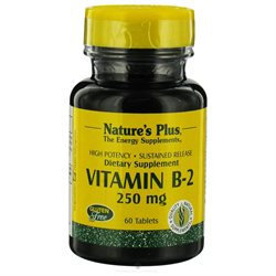 Nature's Plus - Vitamin B-2 Sustained Release 250 mg. - 60 Tablets