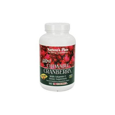 Nature's Plus - Ultra Chewable Cranberry - 180 Chewable Tablets