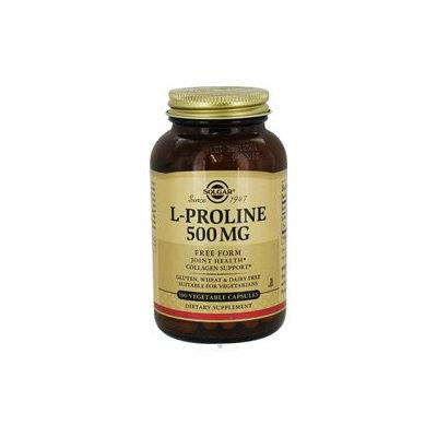 Solgar L-Proline - 500 mg - 100 Vegetable Capsules