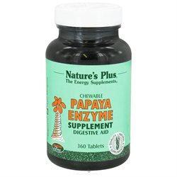 Nature's Plus Chewable Papaya Enzyme - 360 Tablets