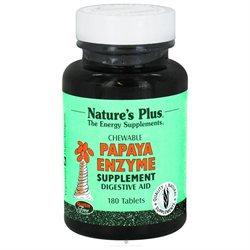 Nature's Plus Papaya Enzyme Chewable - 180 Tablets