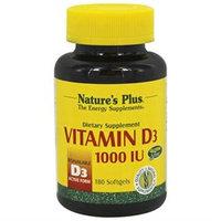 Nature's Plus - Vitamin D3 1000 IU - 180 Softgels