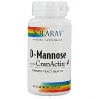 Solaray D-Mannose with CranActin - 60 Vegetarian Capsules