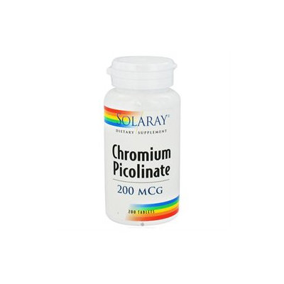 Solaray Chromium Picolinate - 200 mcg - 200 Tablets