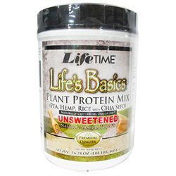 Life Time LifeTime Life's Basics Plant Protein Unsweetened - Vanilla