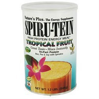 Nature's Plus - Spiru-Tein High Protein Energy Meal Tropical Fruit - 1.2 lbs.