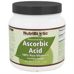 Nutribiotic - Ascorbic Acid Crystalline Powder 100 Pure Vitamin C 2500 mg. - 2.2 lbs.