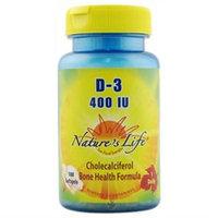 Nature's Life Vitamin D - 400 IU - 100 Softgels