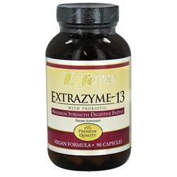 Lifetime Extrazyme-13 with Probiotic - 90 Vegetarian/Vegan Capsules