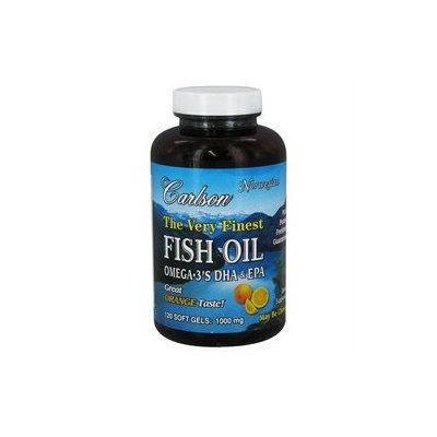 Carlson Labs, Very Finest Norwegian Fish Oil Orange 1000 mg 120 softgels