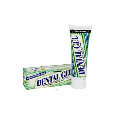 NutriBiotic, Dental Gel Golden Peppermint 4.5 oz