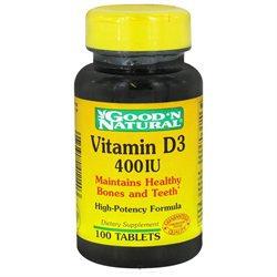 Good 'N Natural - Vitamin D3 400 IU - 100 Tablets