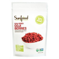 Sunfood Superfoods - Sun-dried Goji Berries Superfruit Snack - 8 oz.