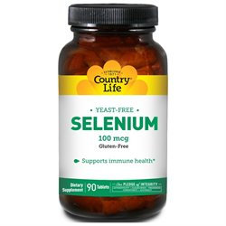Country Life - Selenium Selenomethionine 100 mcg. - 90 Tablets