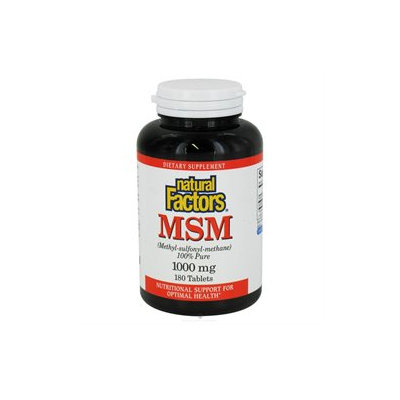 Natural Factors MSM - 1000 mg - 180 Tablets