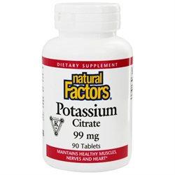 Natural Factors - Potassium Citrate 99 mg. - 90 Tablets