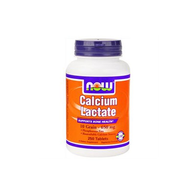 NOW Foods - Calcium Lactate - 250 Tablets
