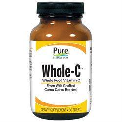 Pure Essence Labs Whole-C Whole Food Vitamin C - 30 Tablets