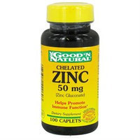 Good 'N Natural - Chelated Zinc Zinc Gluconate 50 mg. - 100 Caplets Formerly Tablets