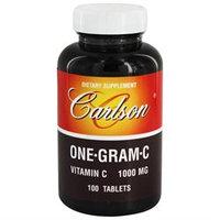 Carlson Laboratories One-Gram C 1000 MG - 100 Tablets - Vitamin C