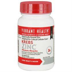 Vibrant Health Krebs Zinc - 30 mg - 60 Capsules