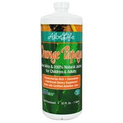 Aloe Life - Whole Leaf Aloe Vera Concentrate Orange Papaya - 32 oz.