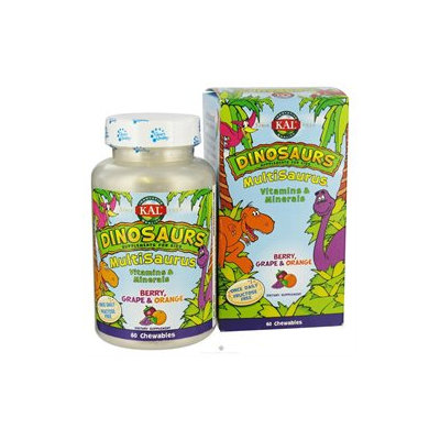 Kal - Dinosaurs MultiSaurus Vitamins & Minerals For Kids Berry Grape & Orange - 60 Chewables