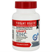 Vibrant Health A Man's Zinc, Tablets, 60 ea