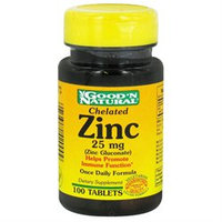 Good 'N Natural - Chelated Zinc Zinc Gluconate 25 mg. - 100 Tablets