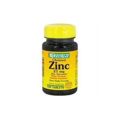 Good 'N Natural - Chelated Zinc Zinc Gluconate 25 mg. - 100 Tablets