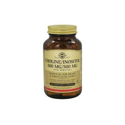 Solgar - Choline/Inositol 500mg/500mg - 100 Vegetarian Capsules