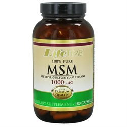 Lifetime 100% Pure MSM - 1000 mg - 180 Capsules